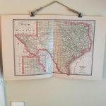 Vintage Map Of Texas 1885 // Original Antique Texas Map //   Etsy   Vintage Texas Map Framed