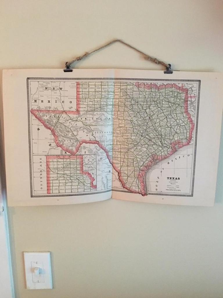 Vintage Map Of Texas 1885 // Original Antique Texas Map //   Etsy - Vintage Texas Map Framed