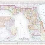 Vintage Map Of The State Of Florida, Usa, 1900 Stock Photo, Picture   Florida Map 1900