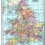 Vintage Printable   Map Of England And Wales   World Of Maps   Printable Map Of