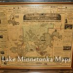 Vintage Rare Framed Map Of Lake Minnetonka Dating Back To 1879   Printable Lake Minnetonka Map