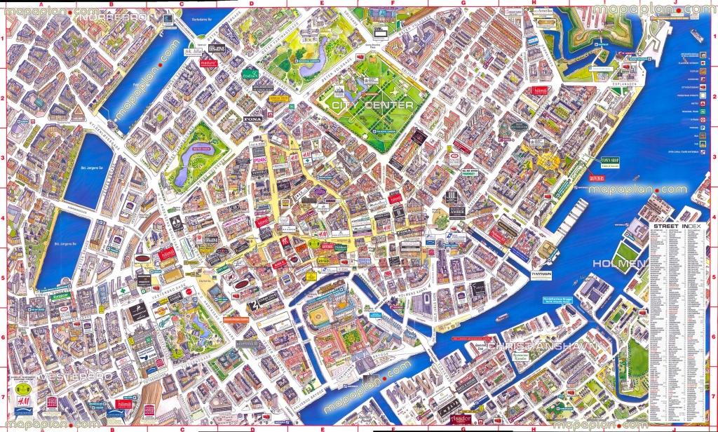 Virtual Interactive 3D Copenhagen Denmark City Center Free Printable - Free Printable Aerial Maps
