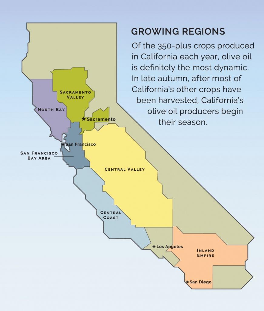 Visit A Member - California Olive Oil Council - California Almond Farms Map