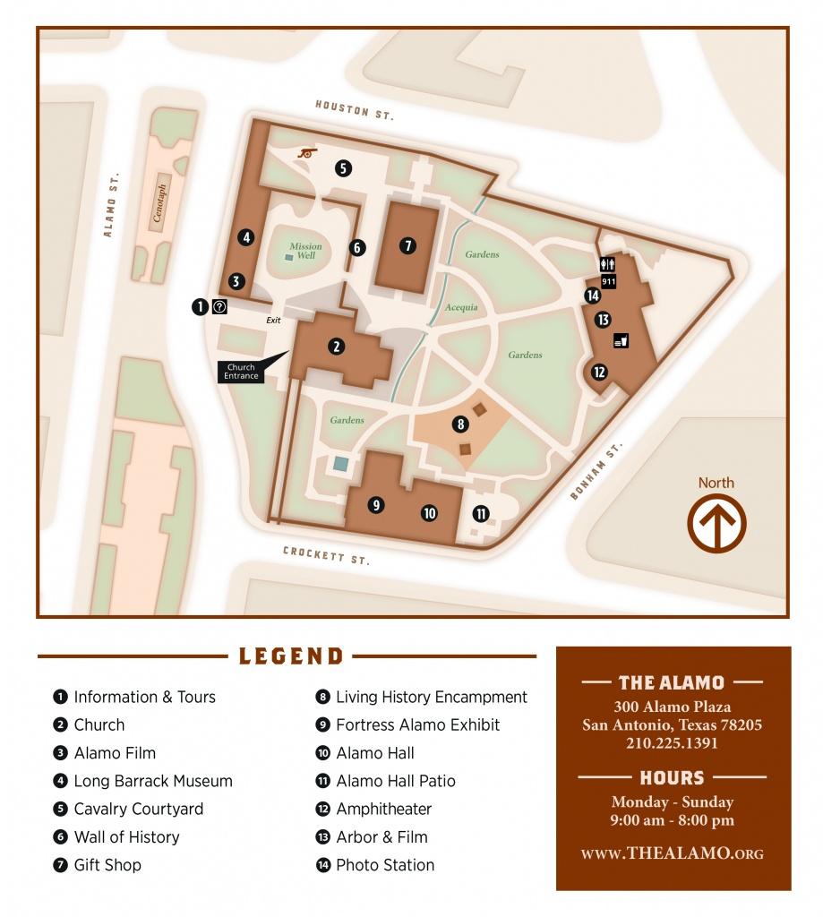 Visitor Map - Map Of The Alamo San Antonio Texas