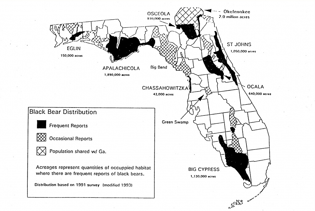 Volume 7, No. 3 - Bears In Florida Map