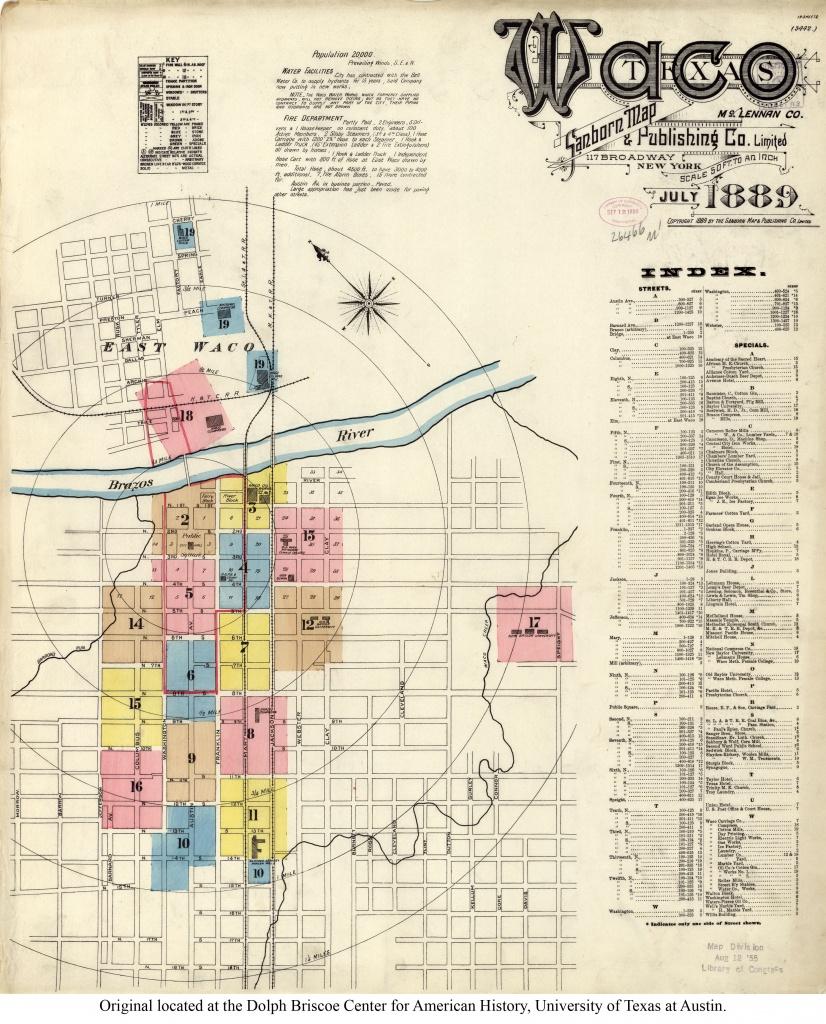 Waco Map And Travel Information   Download Free Waco Map - Printable Map Of Waco Texas