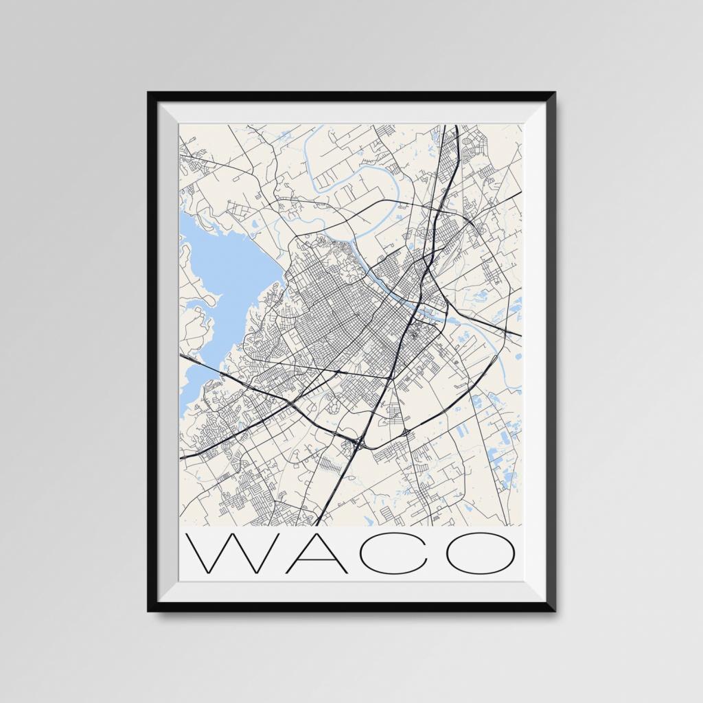 Waco Texas Map Waco City Map Print Waco Map Poster Waco   Etsy - Printable Map Of Waco Texas