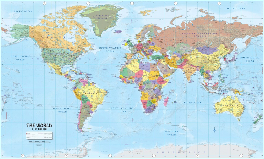 Wall Maps Of The World - World Maps Online Printable