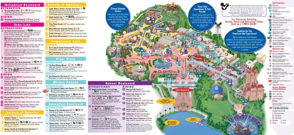 Walt Disney World Map 2014 Printable   Walt Disney World Park And - Wdw Maps Printable