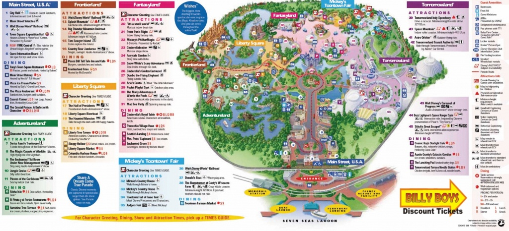 Walt Disney World Map Pdf #1 | Disney | Disney World Map, Disney Map - Printable Maps Of Disney World Theme Parks