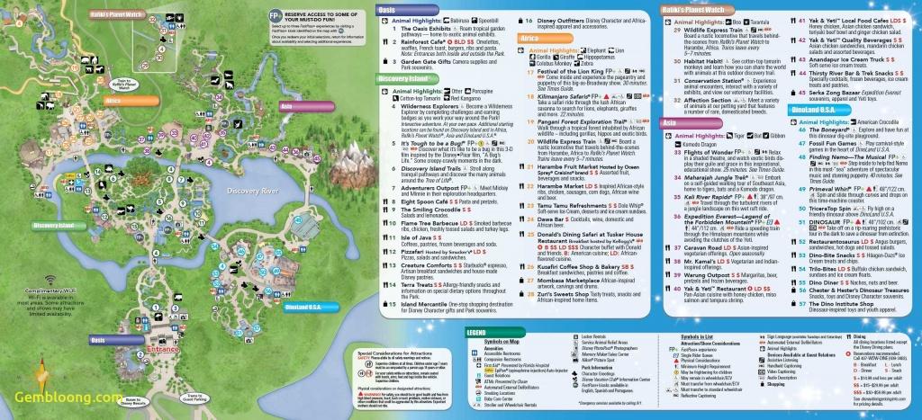 Walt Disney World Map Pdf - Gcocs - Printable Disney Park Maps