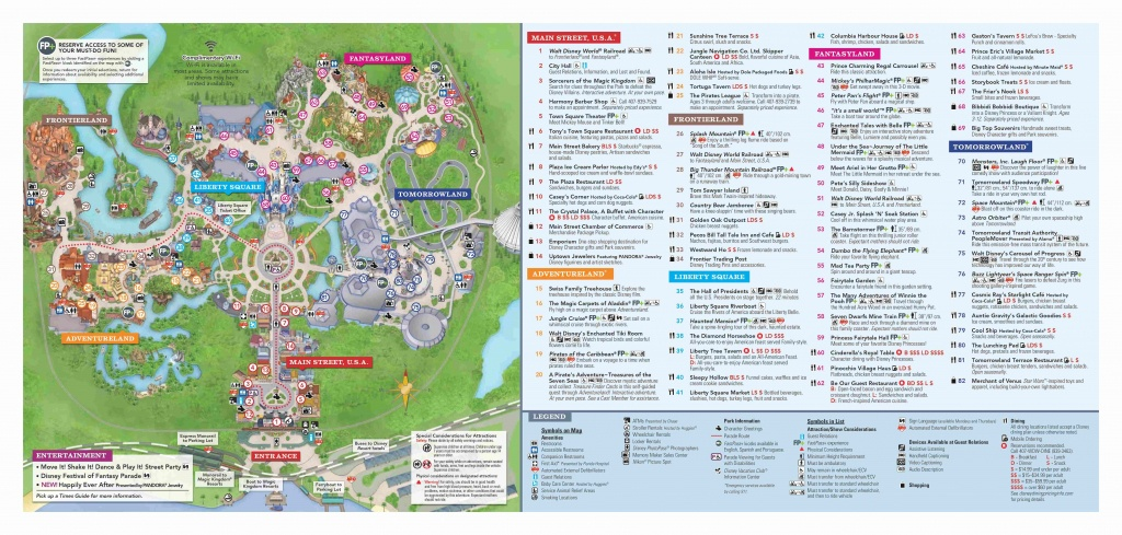 Walt Disney World Park Guide Maps - Blog Mickey - Magic Kingdom Florida Map