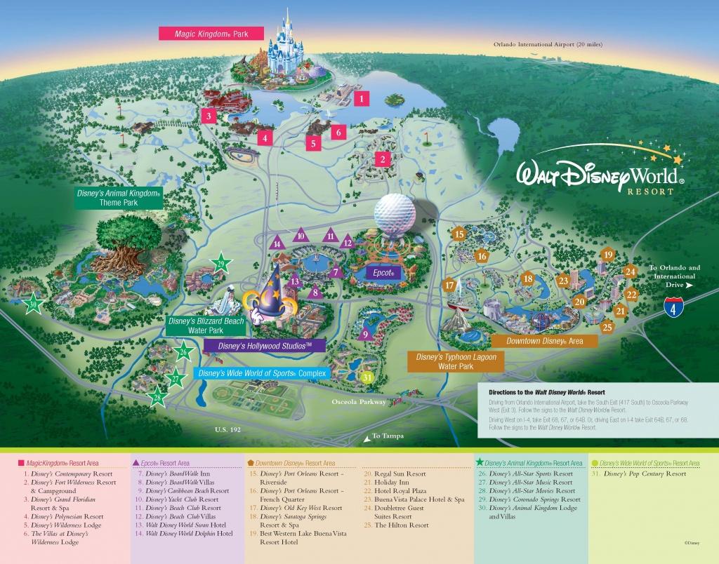 Walt Disney World - Resorts - Resort Map | Wdw -- Disney Resorts In - Disney World Florida Hotel Map