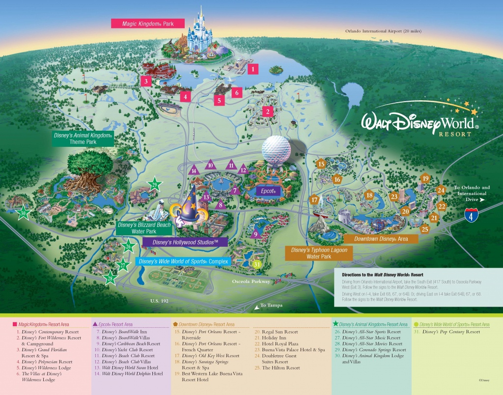 Walt Disney World - Resorts - Resort Map | Wdw -- Disney Resorts In - Map Of Florida Showing Disney World
