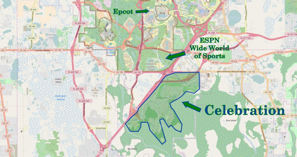 Walt Disney World Subdivision Florida Overview   Navfile - Celebration Florida Map