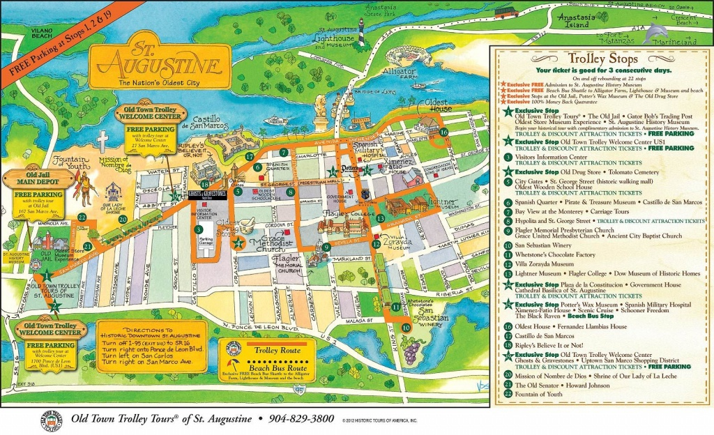 Walt Disney World To St. Augustine: A Florida Road Trip - Polka Dots - Map Of Hotels In St Augustine Florida