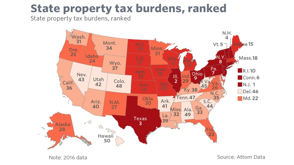 Want To See How America Is Changing? Property Taxes Hold The Answer - Texas Property Tax Map