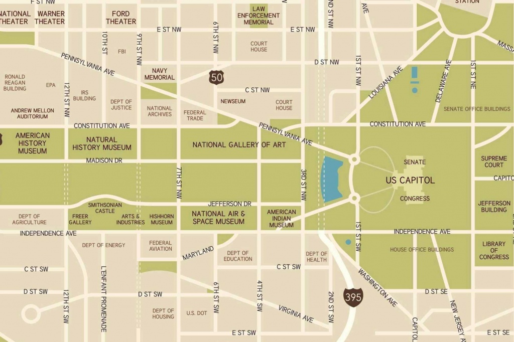 Washington, D.c. National Mall Maps, Directions, And Information - Printable Map Of The National Mall Washington Dc