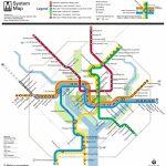 Washington, D.c. Subway Map | Rand   Printable Dc Metro Map