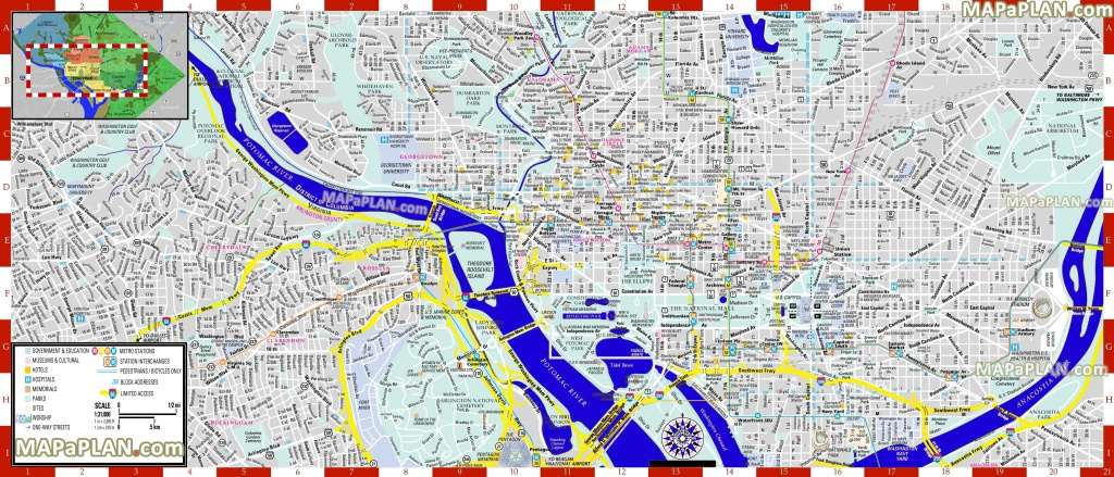 Washington Dc Maps - Top Tourist Attractions - Free, Printable City - Best Printable Maps