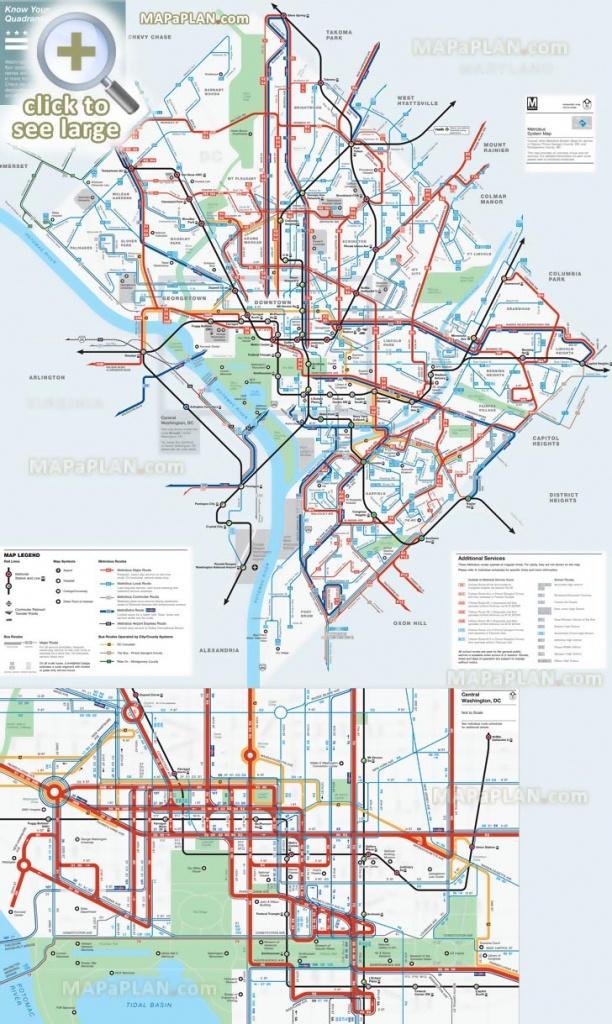 Washington Dc Maps - Top Tourist Attractions - Free, Printable City - Printable Map Of Downtown Dc