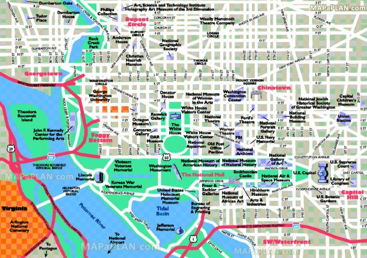 Printable Walking Tour Map Of Washington Dc