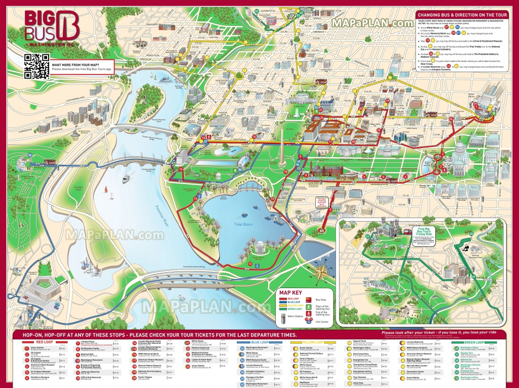 Washington Dc Maps - Top Tourist Attractions - Free, Printable City - Printable Walking Tour Map Of Washington Dc