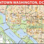 Washington Dc Printable Map And Travel Information | Download Free   Tourist Map Of Dc Printable