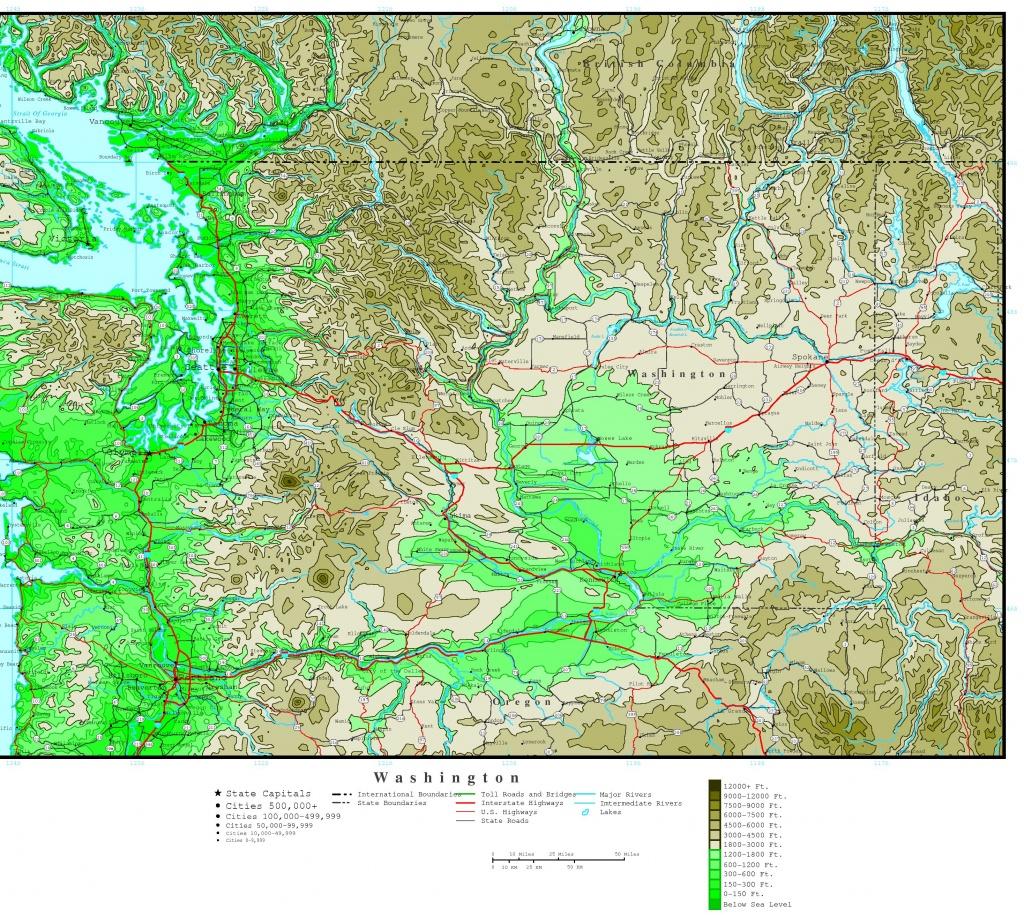 Washington Elevation Map - Interactive Elevation Map Of Florida