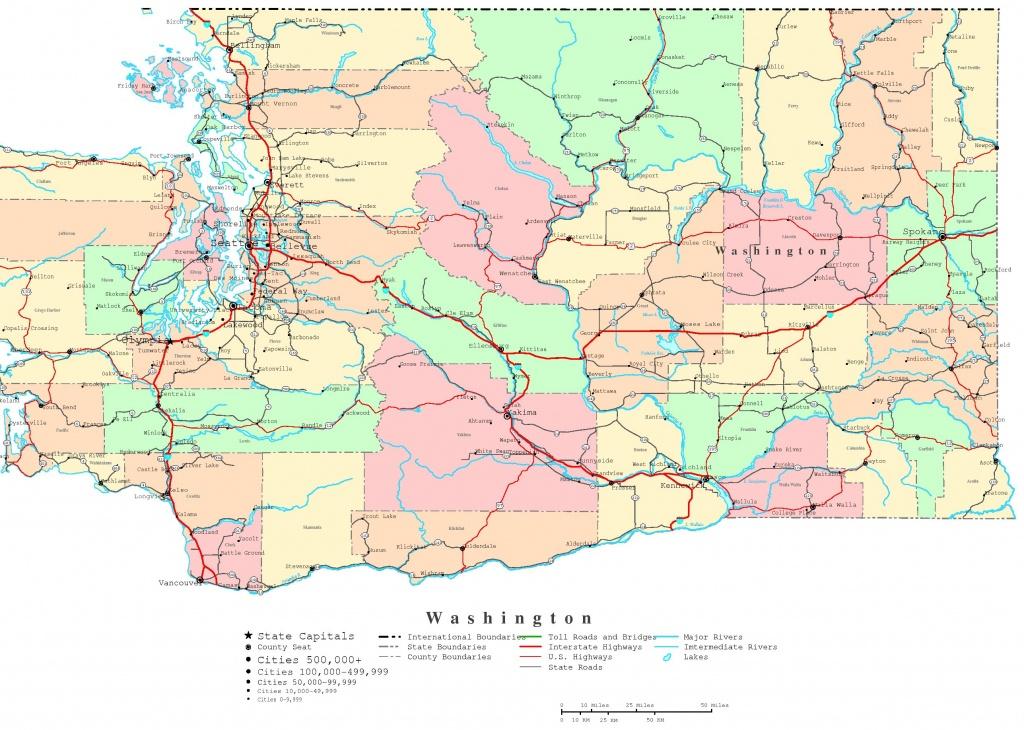 Washington Printable Map - Printable Map Of Seattle Area