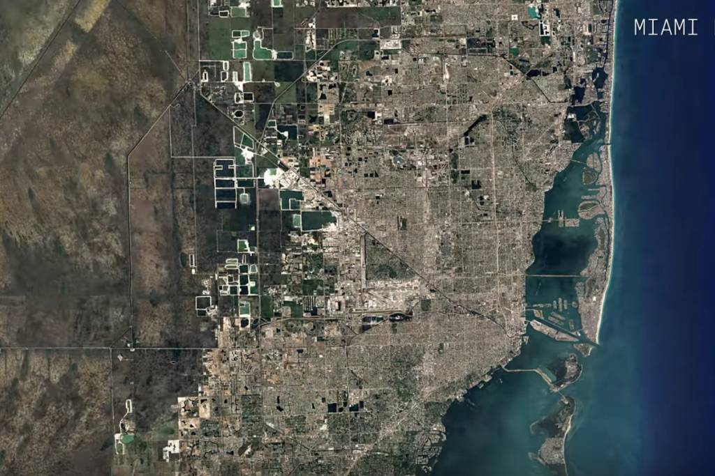 Watch A Google Maps Time-Lapse Of Miami's Growth Over 32 Years - Google Map Miami Florida