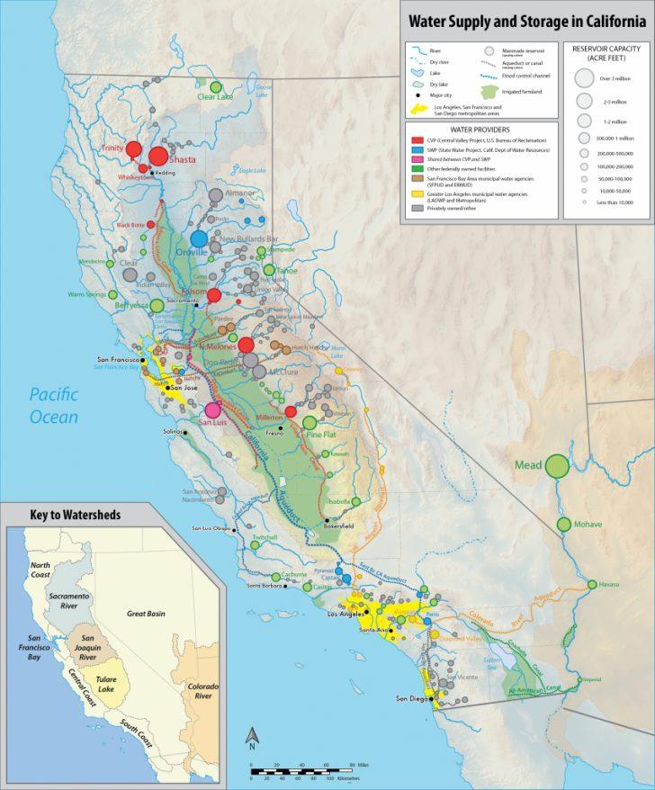 California Almond Farms Map