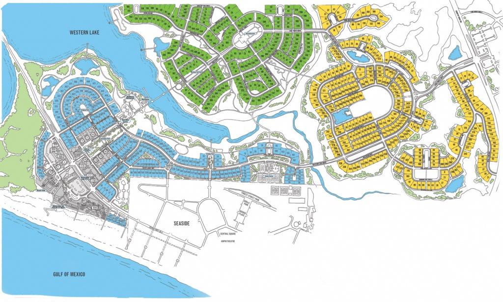 Watercolor Map Florida | Beach Group Properties - Map Of Seaside Florida Area
