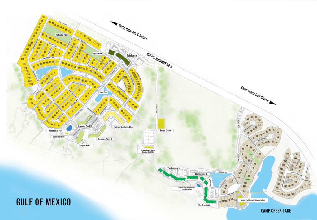 Watersound Florida Map | Beach Group Properties - Map Of Watercolor And Seaside Florida