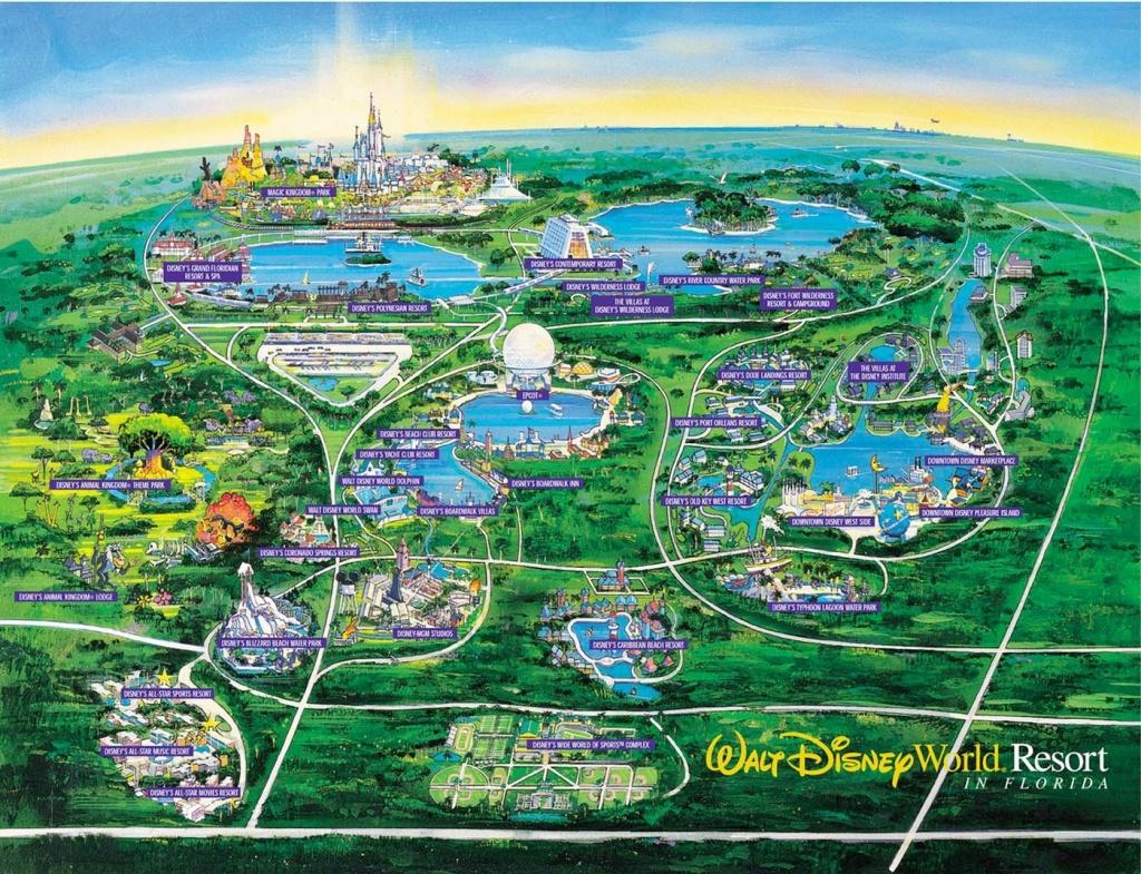 Wdw Wall Map And Walt Disney World Besttabletfor Me Within Resorts - Walt Disney Florida Map