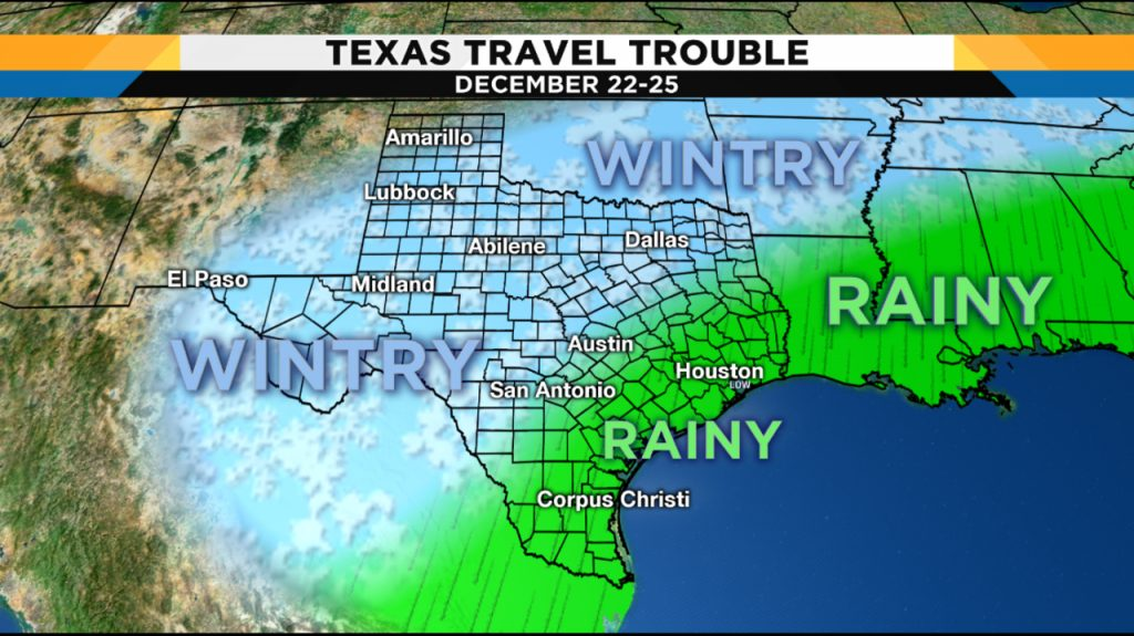 Weather Forecast Leading Into Christmas Hints At Travel - Texas Weather Map Today | Printable Maps