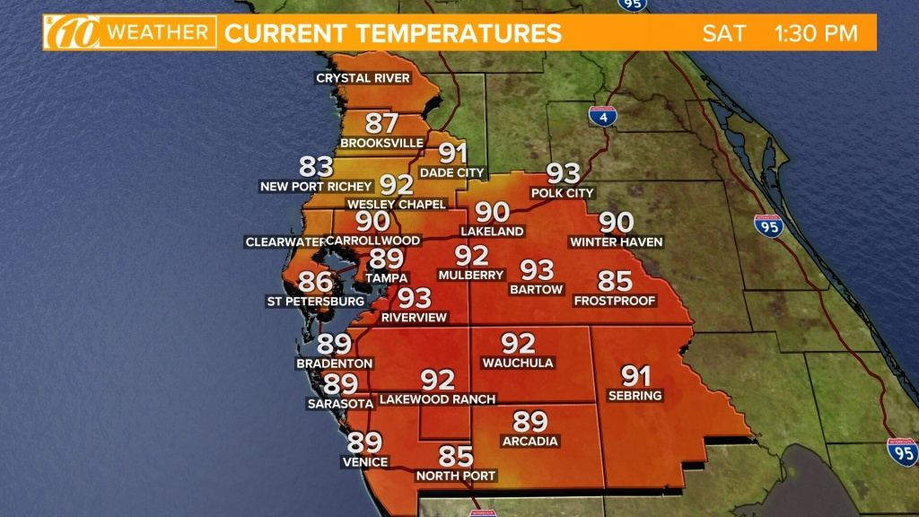 Weather Maps On 10News In Tampa Bay And Sarasota - Florida Pollen Map