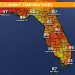 Weather Maps On 10News In Tampa Bay And Sarasota   Florida Weather Map With Temperatures