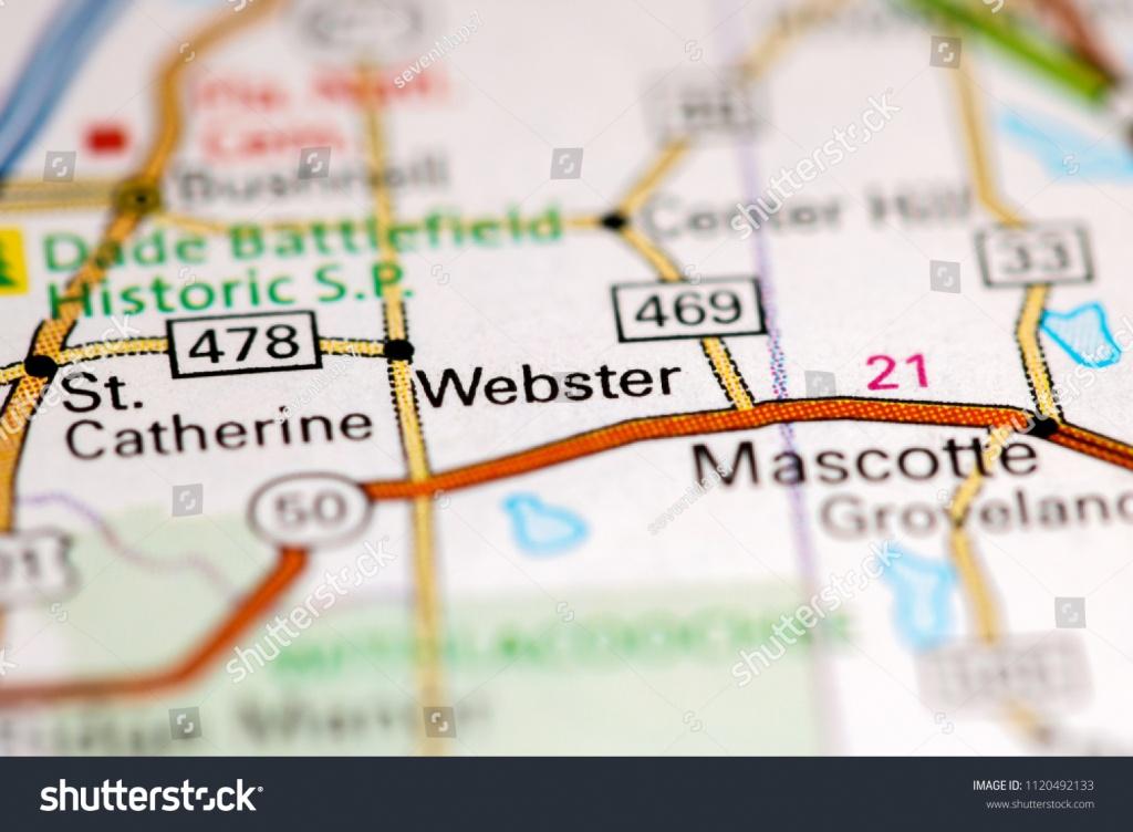 Webster Florida Usa On Map Stock Photo (Edit Now) 1120492133 - Webster Florida Map