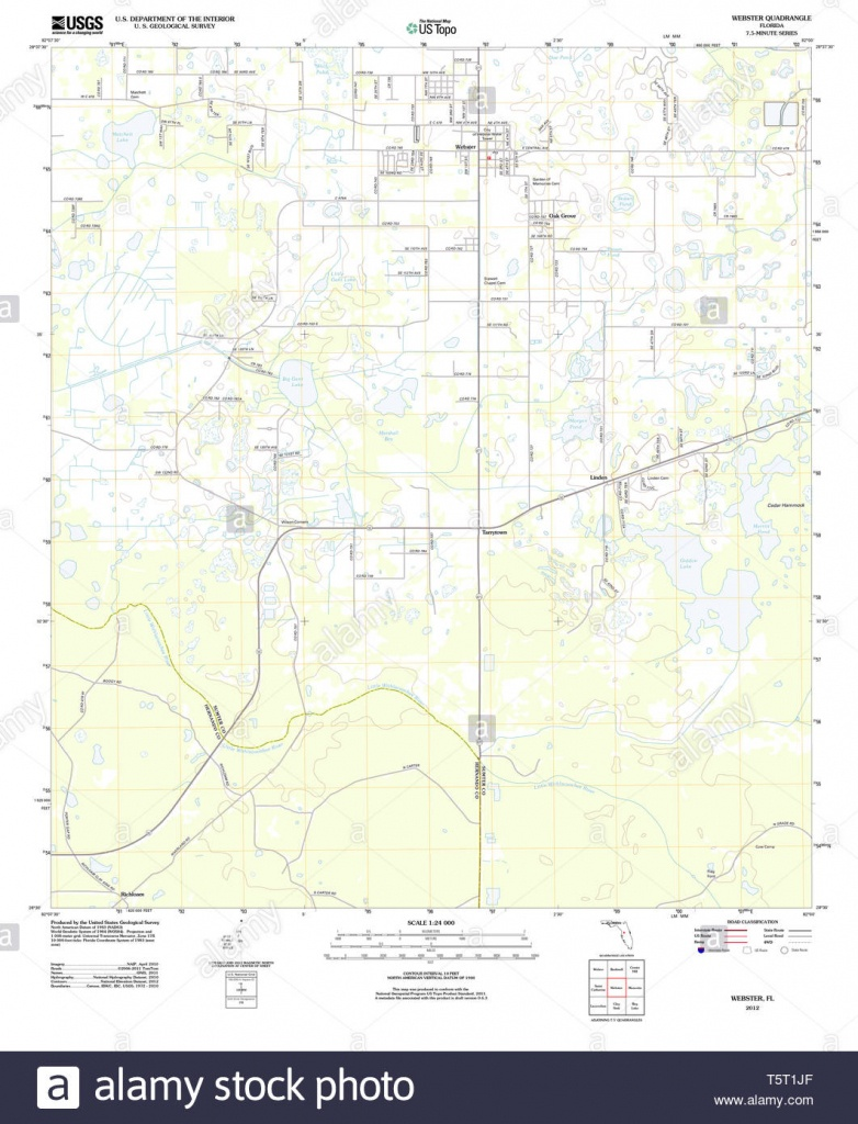 Webster Map Of The United States Stock Photos & Webster Map Of The - Webster Florida Map
