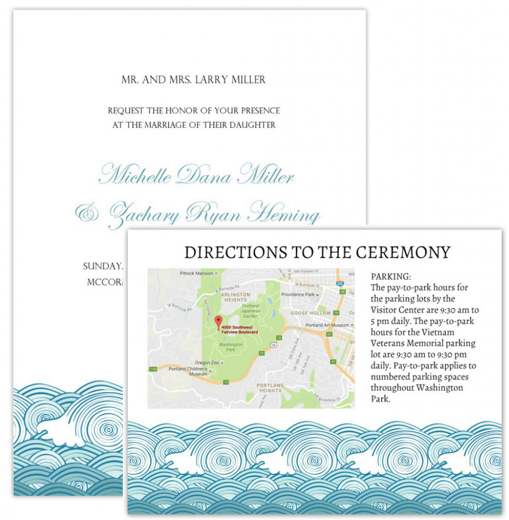 Wedding Invitation Maps - Maps For Wedding Invitations Free Printable