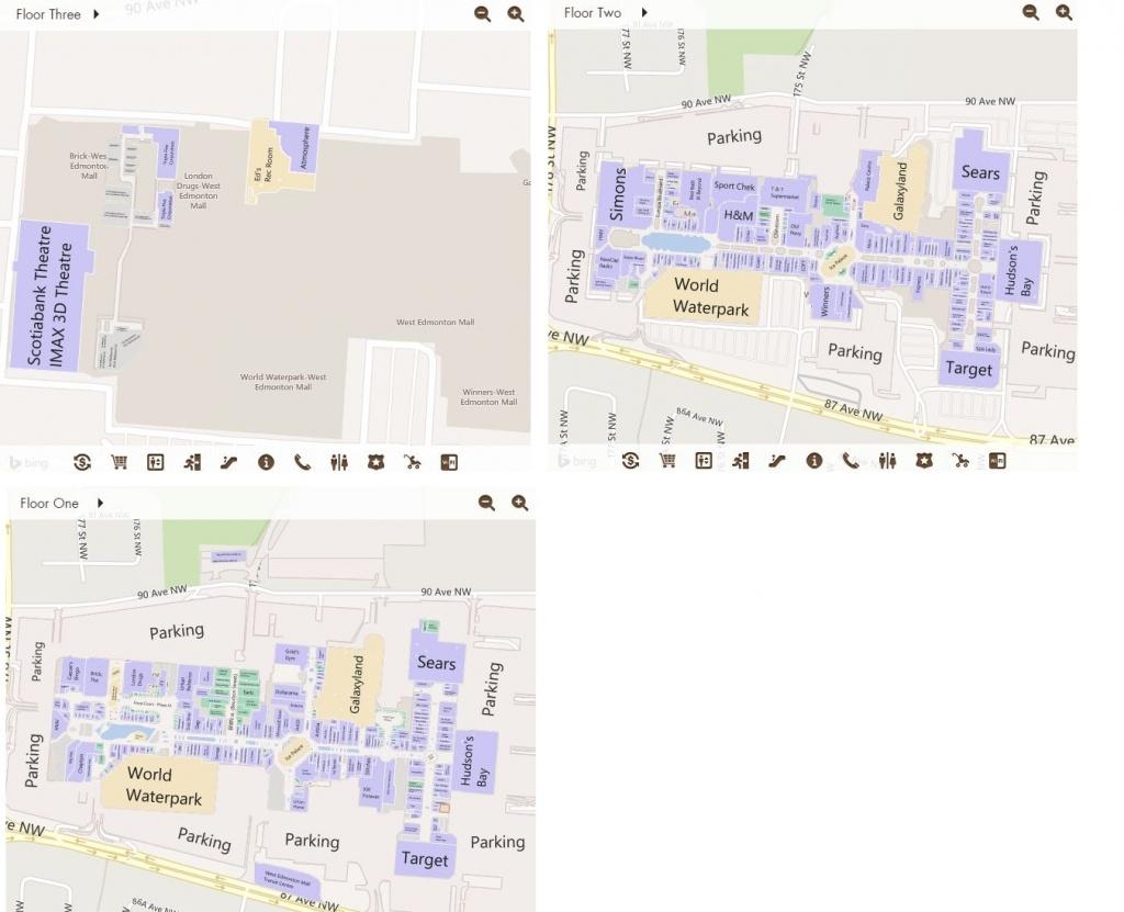 West Edmonton Mall In Edmonton, Alberta - 538 Stores, Hours - Printable West Edmonton Mall Map