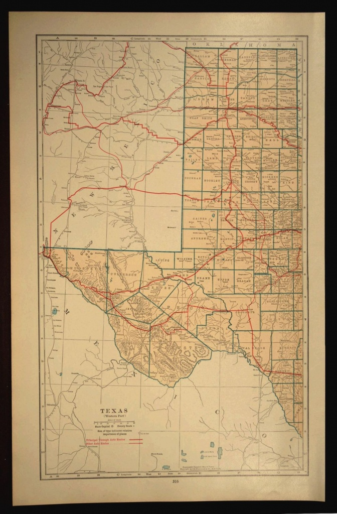 West Texas Map Of Texas Road Map Wall Decor Art Large Highway - Texas Map Wall Art