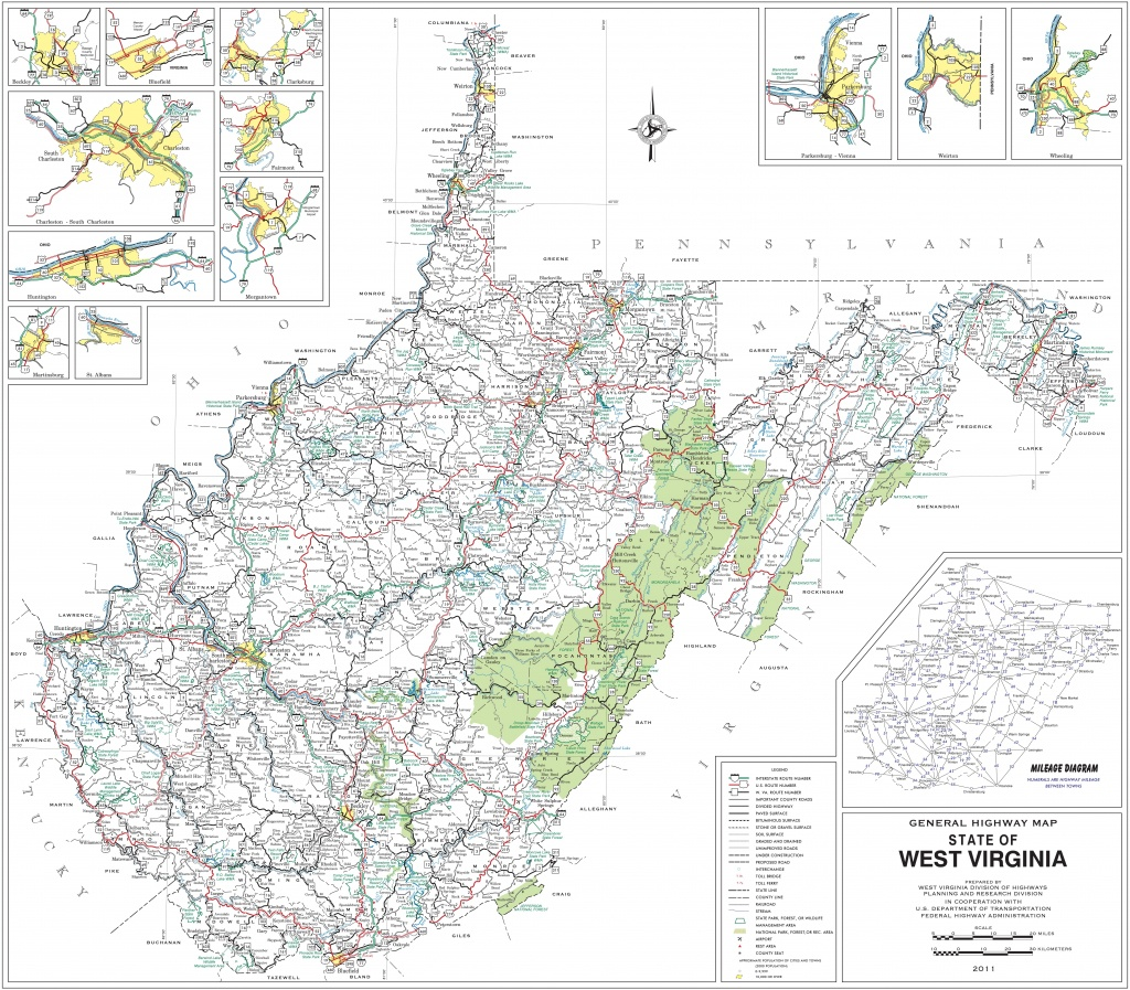 West Virginia State Maps | Usa | Maps Of West Virginia (Wv) - Printable Map Of West Virginia