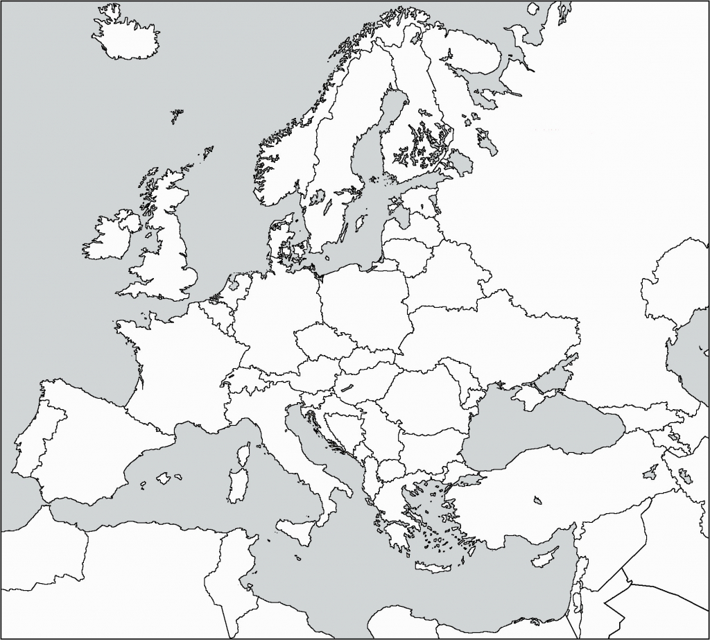Western Europe Map Outline Best Of Blank Printable Simple Asia - Printable Black And White Map Of Europe