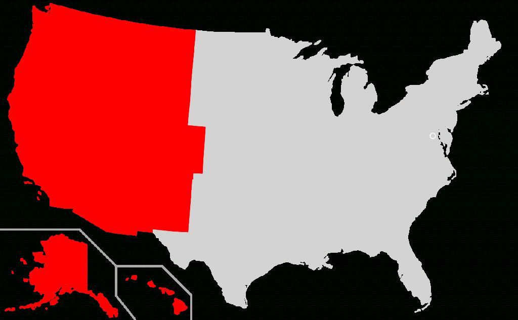 Western United States - Wikipedia - United States Regions Map Printable