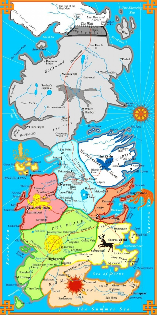 Westeros Political Map - Game Of Thrones | Game Of Thrones In 2019 - Printable Map Of Westeros