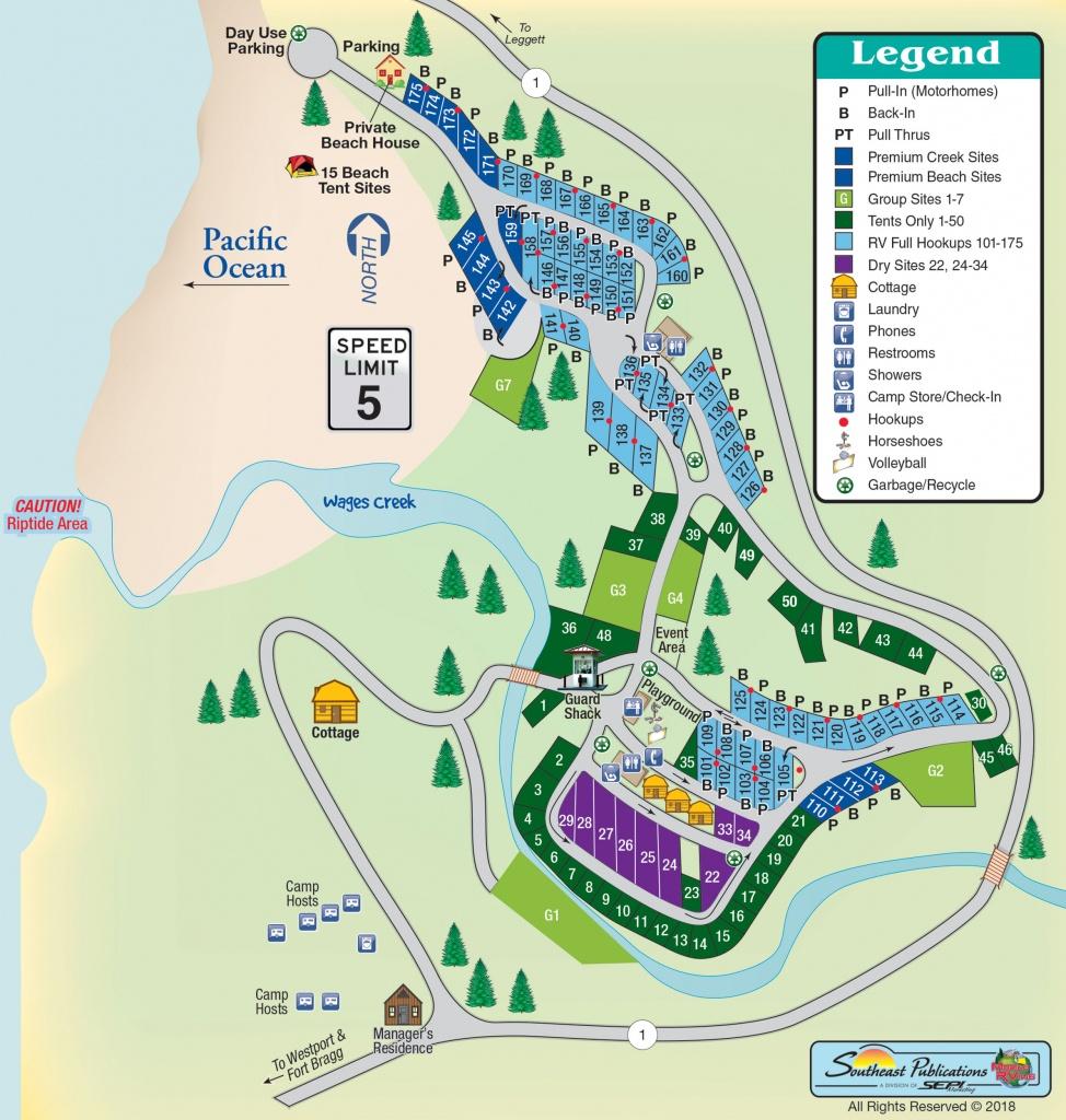 Westport Beach Rv Park In Westport, California   Amenities   Mobilerving - California Rv Campgrounds Map