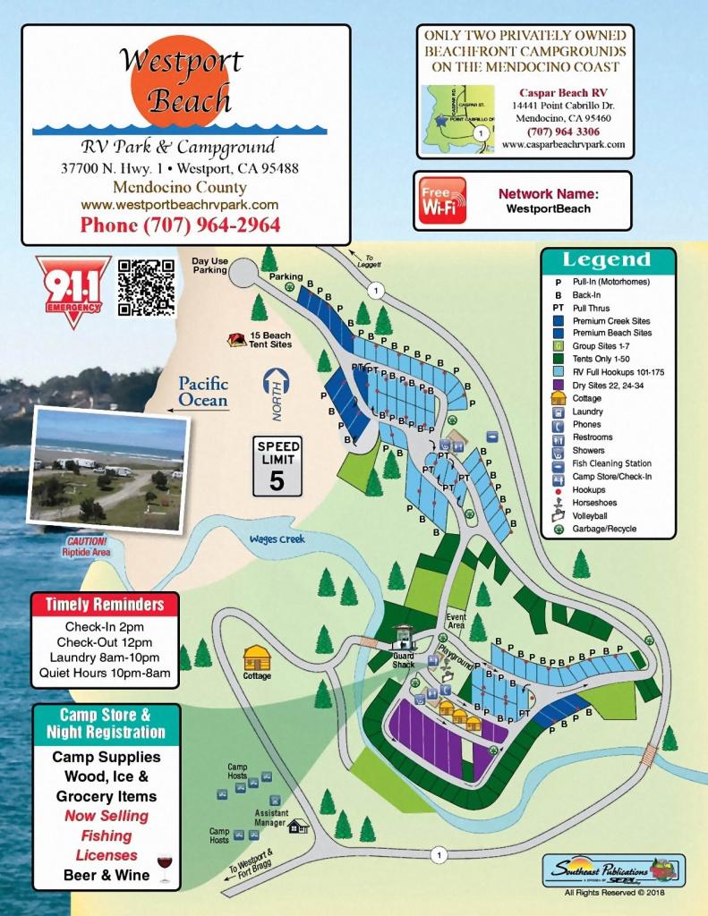 Westport Park Map - California Rv Campgrounds Map