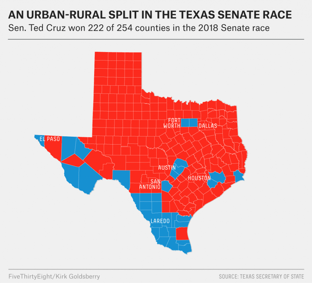 What Really Happened In Texas | Fivethirtyeight - Texas State Senate Map